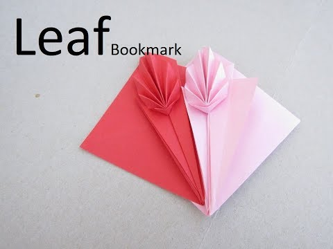 Leaf Bookmark Paper Craft   How to & Origami Tutorial   Cindy DIY