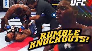 """Anthony """"Rumble"""" Johnson is Knocking Everyone Out! EA Sports UFC 3 Online Gameplay (Ranked)"""