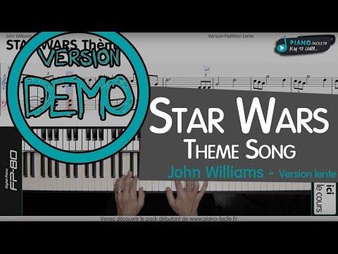 Cover Theme Starwars - Piano tuto + partition - Version lente