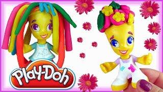 Play Doh Town • Fryzjer i tęczowe fryzury • bajki dla dzieci