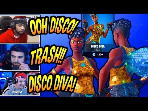 Streamers React To NEW Disco Diva Skin Fortnite Item Shop Today Funny Best Moments