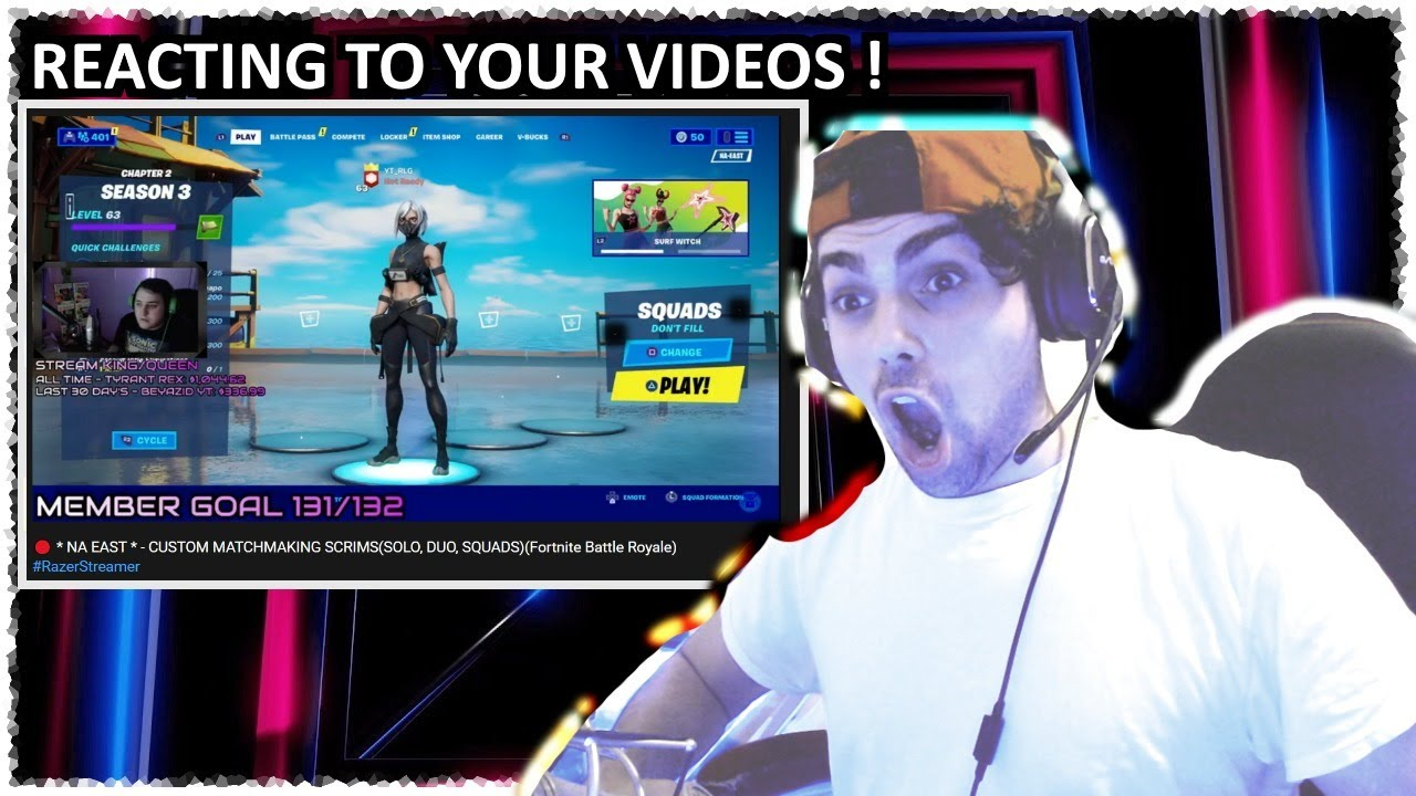 🔴 Reacting to Subscribers/Viewers Videos Live ! Pt.1 #MrBeast #RazerStreamer