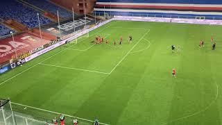 Sampdoria 1-2 Genoa, rossoblu cantano sotto la Nord per festeggiare la vittoria del 120º Derby