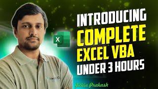 Excel VBA Full Tutorial | Excel VBA Training in 3 hours