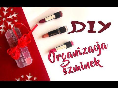 DIY organizacja pomadek szminek Jak wykorzystać szminkę do końca