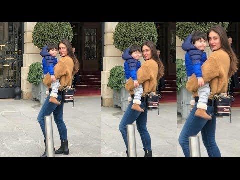 Taimur Ali Khan looks so happy in arms of Kareena Kapoor Khan at their Paris Trip Mp3