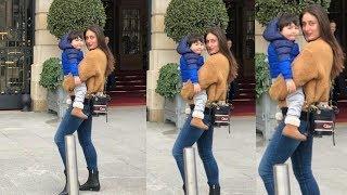 Taimur Ali Khan looks so happy in arms of Kareena Kapoor Khan at their Paris Trip
