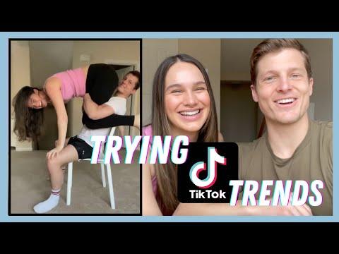Trying VIRAL TikTok Trends! *PREGNANT EDITION* | The Herbert's