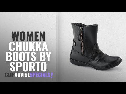 Top 10 Sporto Women Chukka Boots [2018]: Sporto Women's Mila Casual Booties Black 6 M