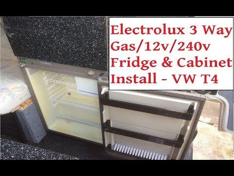 campervan electrolux 3 way fridge \u0026 unit install vw t4 camper 12v 240v gas fridge installation Electrolux Wiring Color