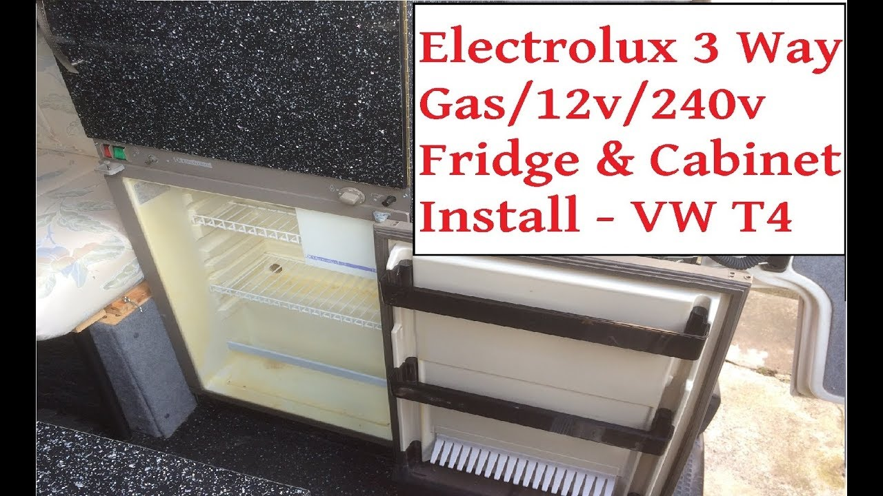 campervan electrolux 3 way fridge unit install vw t4 camper 12v 240v gas fridge installation [ 1280 x 720 Pixel ]