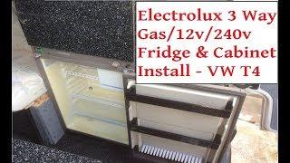 Campervan Electrolux 3 Way Fridge & Unit Install - VW T4 Camper 12v/240v/Gas Fridge Installation