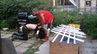 Buried In Blood Match - Innovator (c) VS Xristo {CHW Championship} Backyard Wrestling