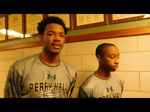 Perry Hall basketball Darrell Green and Aaron Butler 12/15/16