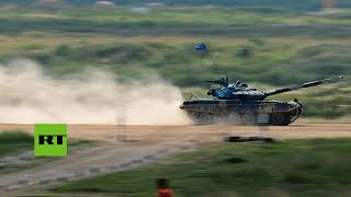 Día 5: Biatlón de tanques durante los IV Juegos Militares Internacionales