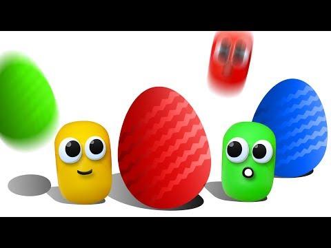 Видео про ЖИВУЮ КАПСУЛУ. Открываем 50 Киндеров и достаем игрушки Барбоскины, игрушки Ам Ням