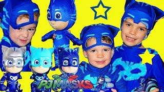 PJ Masks STUCK with ONLY CATBOY TOYS Boxfort Hide N Seek Fun Kids Video