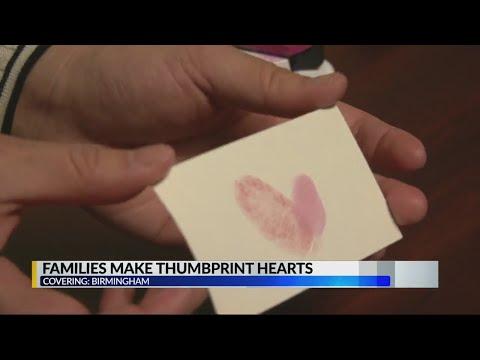 Thumbprint hearts for families at UAB – Alabama Alerts