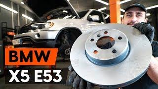 Montering Bremseskiver foran og bak BMW X5: videoopplæring