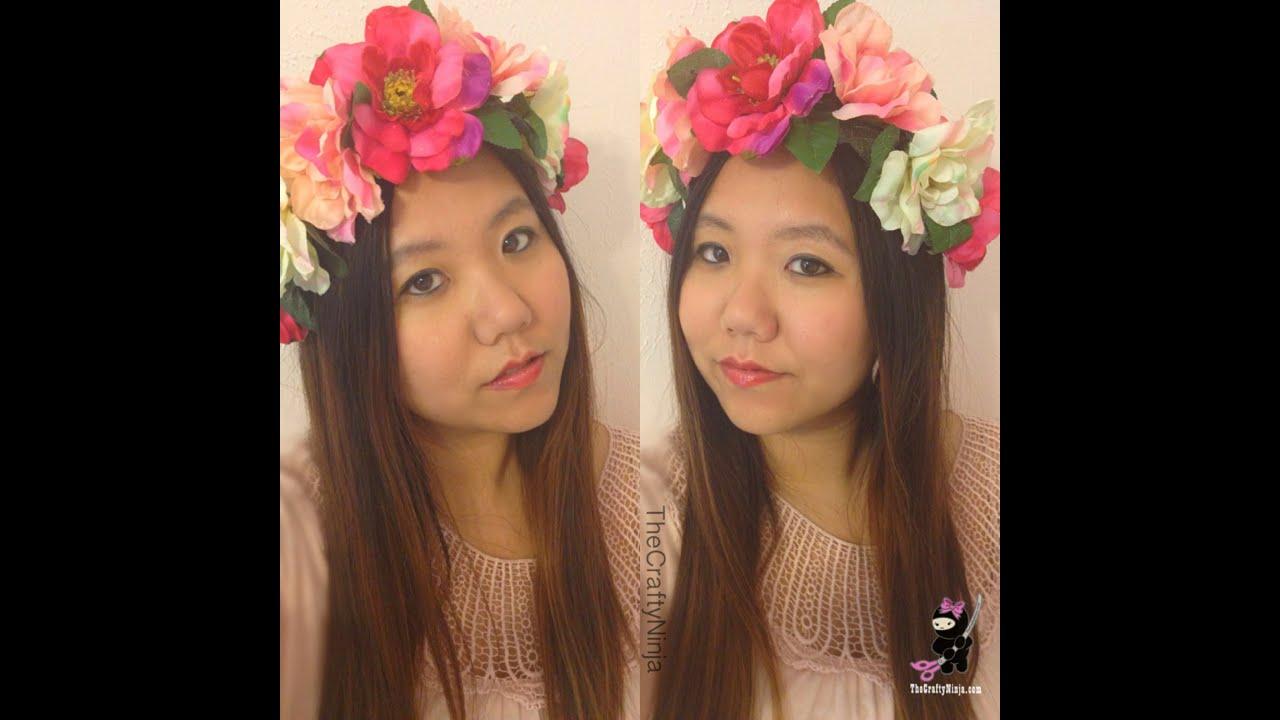 Diy flower crown headband by the crafty ninja youtube izmirmasajfo