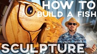 How To Build A Fish Sculpture Using Scrap Wood: Reclaimed & Pallet