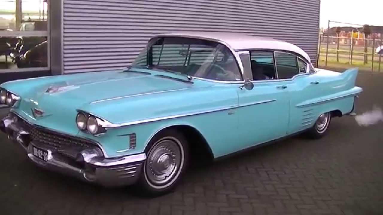Cadillac Sedan De Ville 1958 Very Good Condition Video