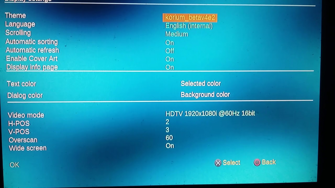 Open PS2 Loader (OPL) - HiRes-Glitches fixed and 1920*1080 Background
