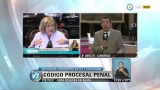 Visión 7 - Debate en Diputados: Código Procesal Penal y bicameral por evasión en Suiza (1 de 2)
