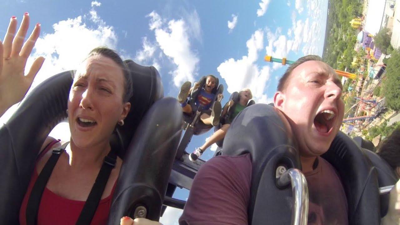 Grown Man Screaming On Sheikra Rollercoaster At Busch