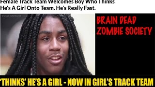 SICKENING!! Female Track Team Welcomes Boy Who Thinks He's A Girl Onto Team