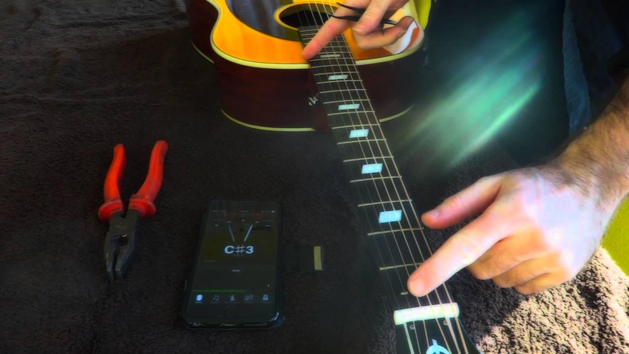 Quick Acoustic Guitar Intonation Fix Youtube