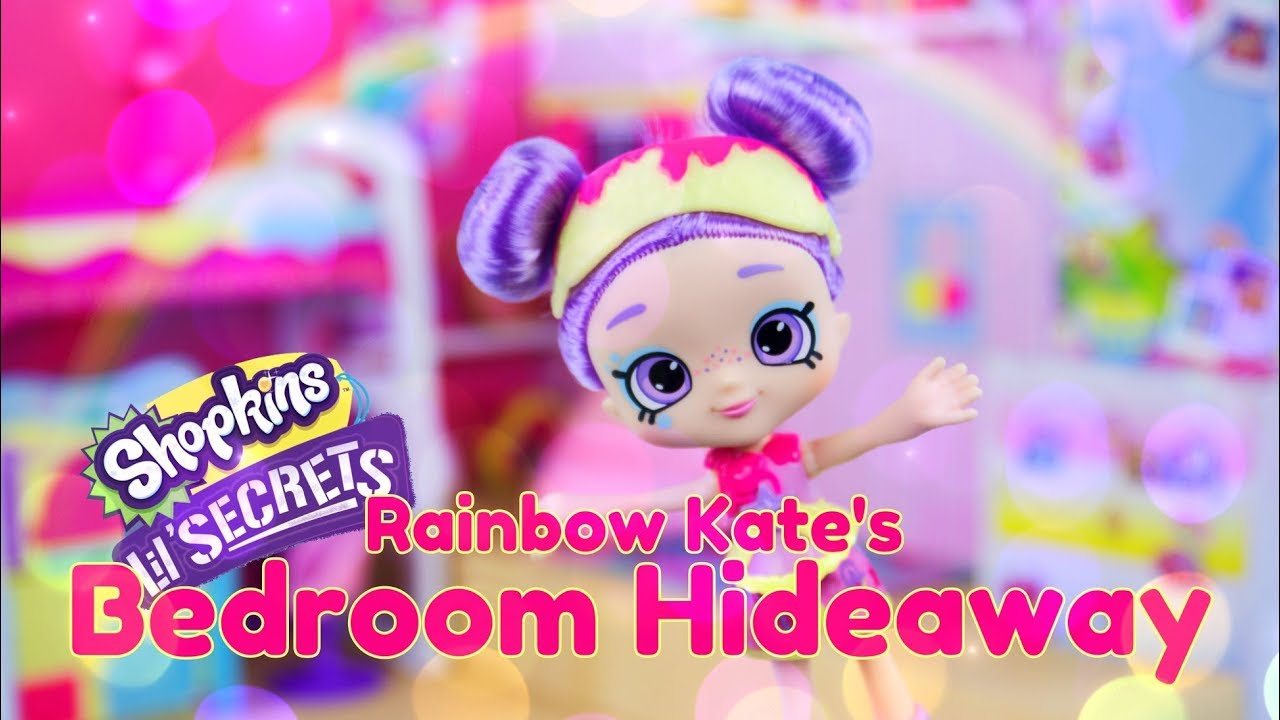 Unbox Daily PLUS Craft:  Shopkins Lil Secrets Rainbow Kate's Bedroom Hideaway
