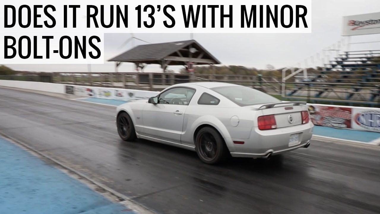 Can The Ford Mustang Run A 13 Second Quarter Mile Et Mullet Ep09