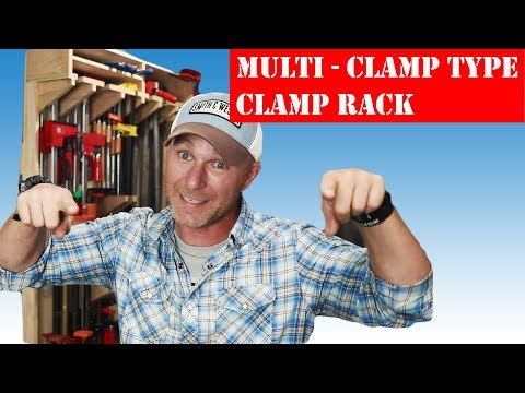 How To Make A Multi Clamp Type CLAMP STORAGE RACK (DIY)