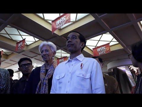 Jokowi Ajak Bos IMF ke RS Pertamina dan Pasar Tanah Abang