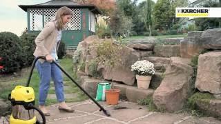 ゴミや土、小石、水まで吸い取れる!ケルヒャー「 乾湿両用バキュームクリーナー」