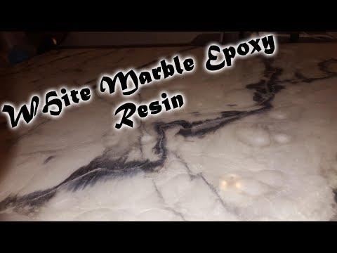White Marble Epoxy Resin