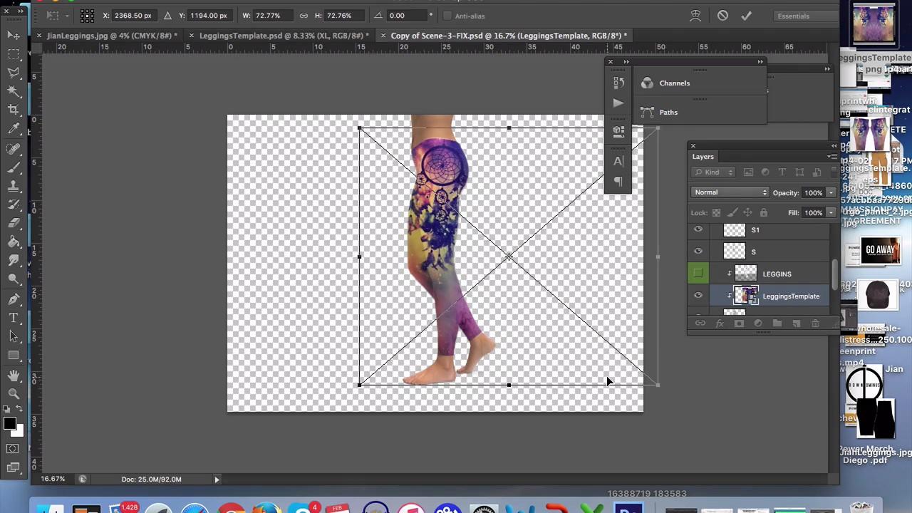 how to use leggings mockup on photoshop youtube