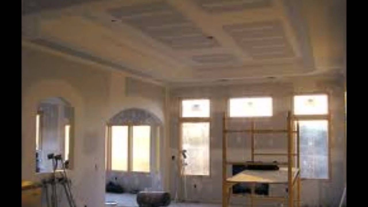 Awesome DRYWALL INSTALLATION REPAIR TAPE BED TEXTURE PAINT   YouTube