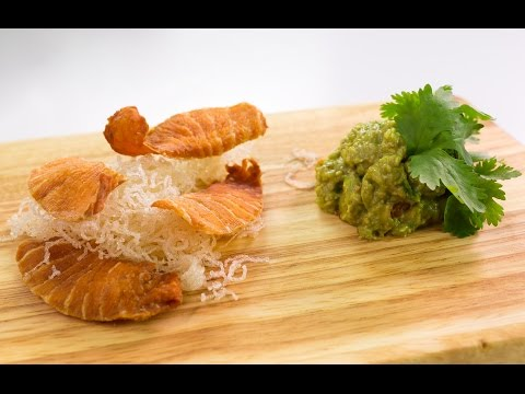 Generate How to Make Salmon Chips And Asian Guacamole Pictures