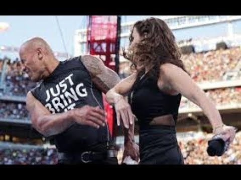 The Rock Get Slapped By Stephanie McMahon!!!! | WWE | The Rock | Stephanie McMahon