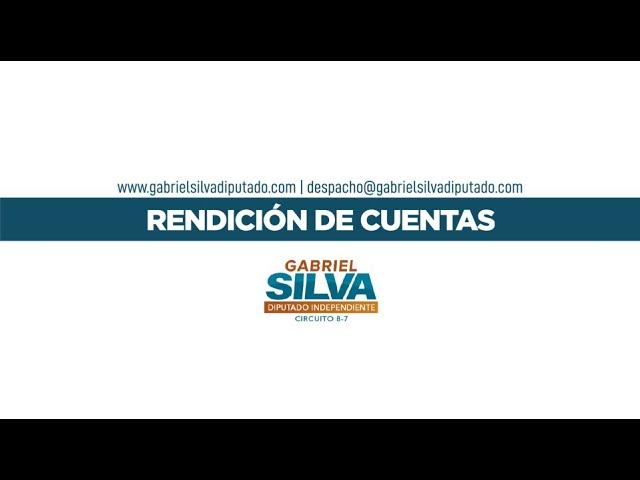 Gabriel Silva - Informe de Rendición de Cuentas (Periodo julio - octubre 2020)