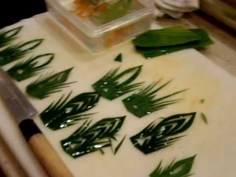leaf decor garnish for sushi