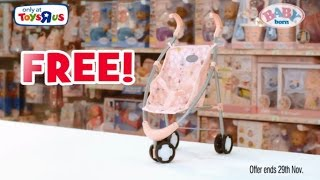 Toys R Us Offer - Free BABY Born Stroller when you spend £50+ on Baby Born!