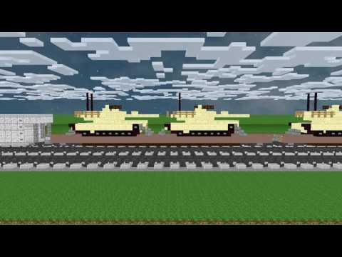 Freight Trains in Minecraft Animation