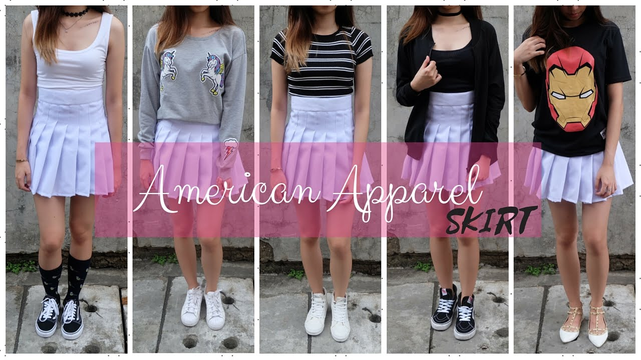 3ec150c56e HOW TO STYLE YOUR AMERICAN APPAREL TENNIS SKIRT (Philippines) | Ann V -  YouTube