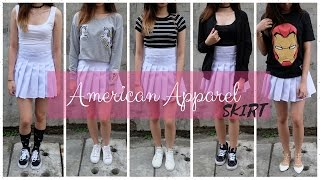 HOW TO STYLE YOUR AMERICAN APPAREL TENNIS SKIRT (Philippines) | Ann V