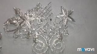 Люневильская и тамбурная вышивка в свадебном платье