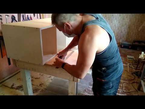 видео: Делаем шкаф - пенал из фанеры в кухню