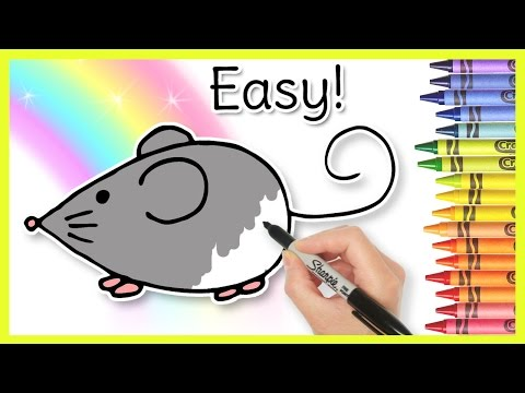 How to Draw a MOUSE! Easy Learning Video For Toddlers through Kindergarten Kids